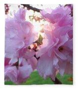 Kwanzan Cherry Blossoms Fleece Blanket