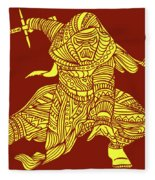Kylo Ren - Star Wars Art - Red And Yellow Fleece Blanket