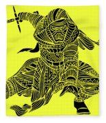 Kylo Ren - Star Wars Art - Yellow Fleece Blanket