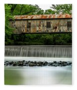 Kymulga Covered Bridge  1864 Fleece Blanket