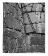 Kyoto Palace Stone Wall Fleece Blanket