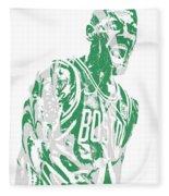 Kyrie Irving Boston Celtics Pixel Art 42 Fleece Blanket
