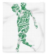 Kyrie Irving Boston Celtics Pixel Art 43 Fleece Blanket