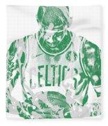 Kyrie Irving Boston Celtics Pixel Art 5 Fleece Blanket