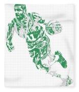 Kyrie Irving Boston Celtics Pixel Art 9 Fleece Blanket