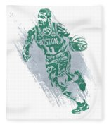 Kyrie Irving Boston Celtics Water Color Art 2 Fleece Blanket