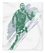 Kyrie Irving Boston Celtics Water Color Art 4 Fleece Blanket