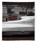 Kyushu Bullet Train Locomotive Fleece Blanket