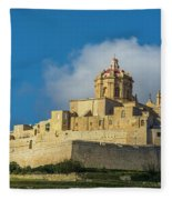 L-imdina Castle City Cathedral And Walls Fleece Blanket