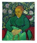 La Berceuse, Portrait Of Madame Roulin, 1888-1889, Kroller-mulle Fleece Blanket