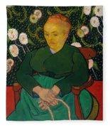 La Berceuse. Woman Rocking A Cradle. Augustine-alix Pellicot Roulin Fleece Blanket