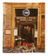 La Bicicletta Fleece Blanket