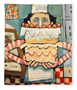 La Boulanger Francaise Fleece Blanket