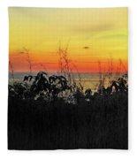 la Casita Playa Hermosa Puntarenas Costa Rica - Sunset A Panorama Fleece Blanket