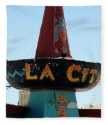 La Cita In Tucumcari On Route 66 Nm Fleece Blanket