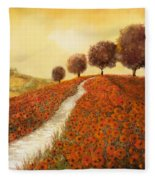 La Collina Dei Papaveri Fleece Blanket