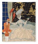 La Comtesse From Personages De Comedie Fleece Blanket