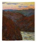 La Creuse, Sunset Fleece Blanket