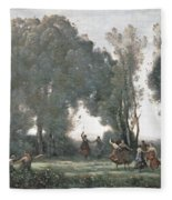 La Danse Des Nymphes Fleece Blanket