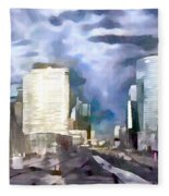 Paris La Defense Fleece Blanket