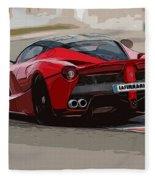 La Ferrari - Rear View Fleece Blanket