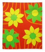 La Flor De La Vida Fleece Blanket
