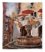 la fontana a St Paul de Vence Fleece Blanket