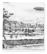 La France Airship, 1884 Fleece Blanket