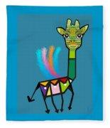 La Girafe A Plumes Fleece Blanket
