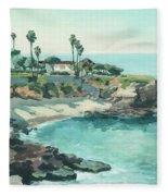 La Jolla Cove In December, La Jolla, San Diego, California Fleece Blanket