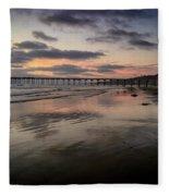 La Jolla Pier Fleece Blanket