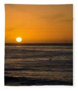 La Jolla Sunset Fleece Blanket