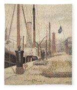 La Maria At Honfleur Fleece Blanket