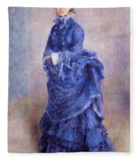 La Parisienne The Blue Lady  Fleece Blanket