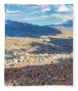 La Paz Cable Car Fleece Blanket