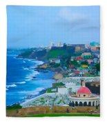 La Perla In Old San Juan Fleece Blanket