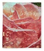 La Petite Rose Fleece Blanket