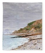La Pointe De La Heve Fleece Blanket
