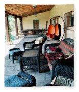 La Posada Historic Hotel Veranda Portrait Fleece Blanket