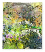 La Provence 07 Fleece Blanket
