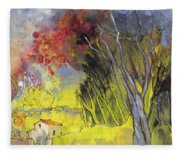 La Provence 26 Fleece Blanket