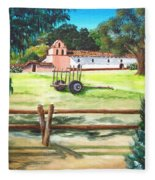 La Purisima With Fence Fleece Blanket