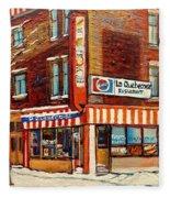 La Quebecoise Restaurant Deli Fleece Blanket