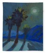 La Quinta Cove And Moonlight Fleece Blanket