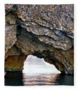 La Roca Foradada - Of L'estartit Fleece Blanket