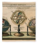 La Sphere Artificielle - Illustration Of The Globe - Celestial And Terrestrial Globes - Astrolabe Fleece Blanket