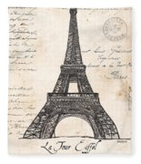 La Tour Eiffel Fleece Blanket