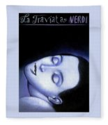La Traviata Rafal Olbinski Fleece Blanket