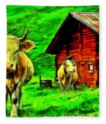 La Vaca Fleece Blanket