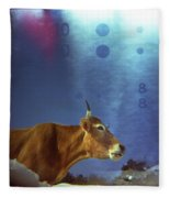 La Vache Numerique Fleece Blanket